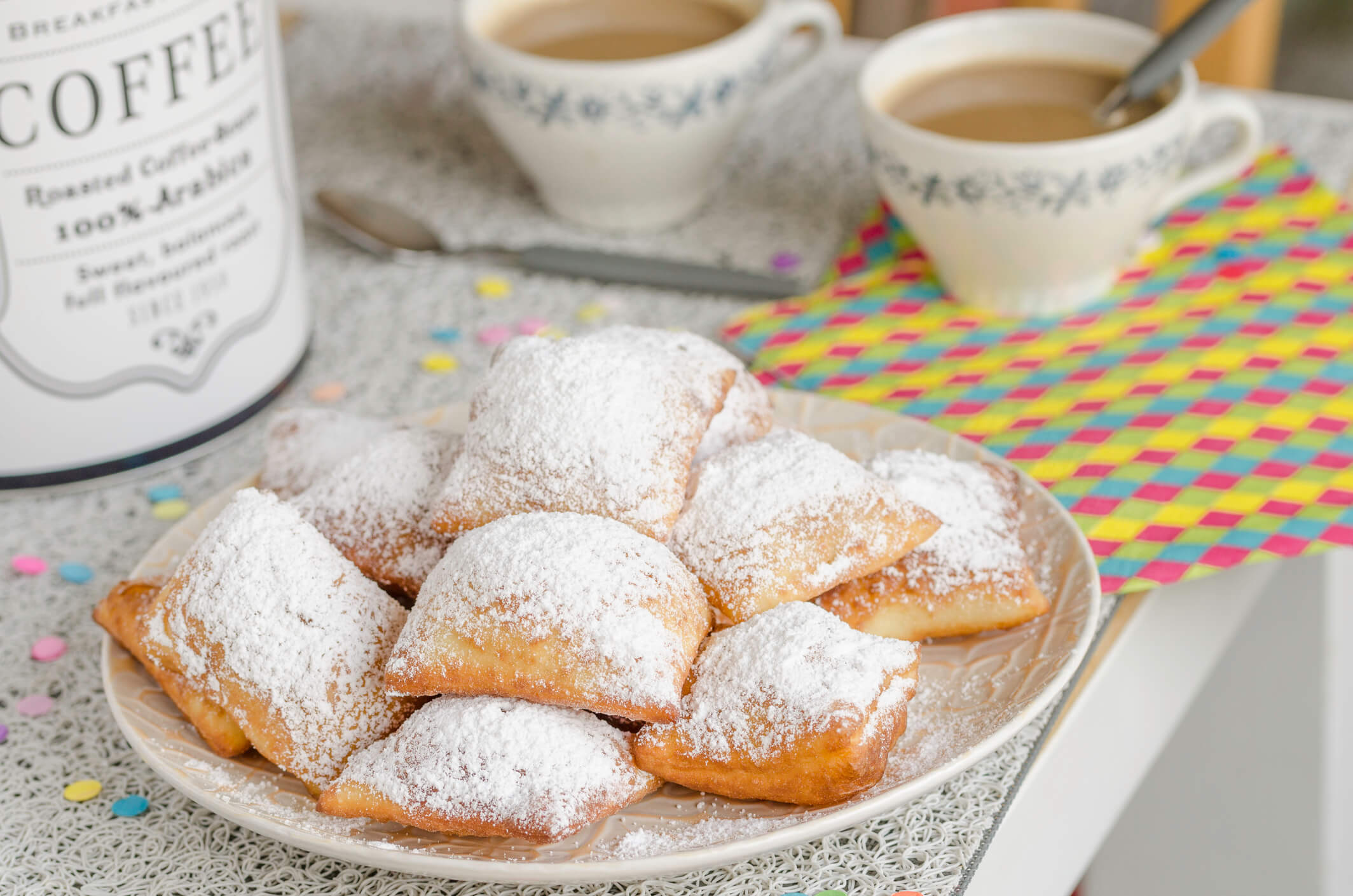 New Orleans beignets served for Mardi Gras