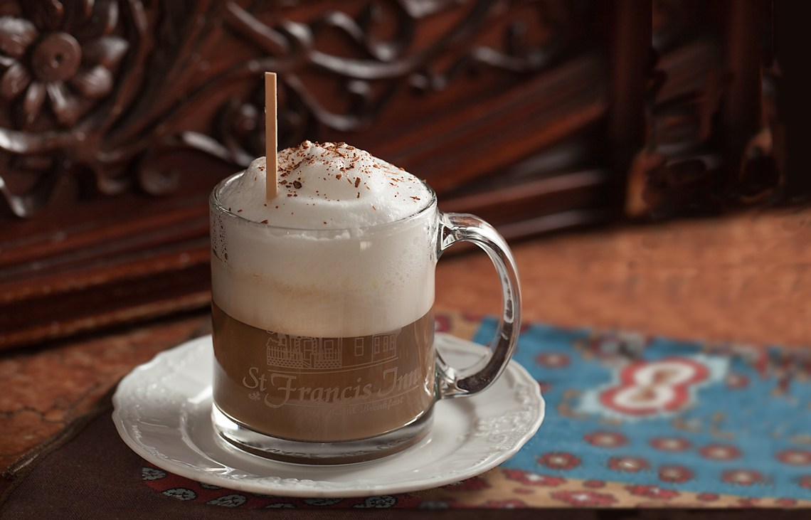 Compliementary Specialty Latte at St Francis Inn