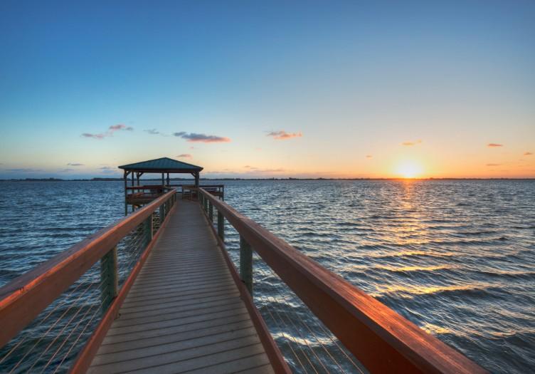 melbourne florida sunrise over river