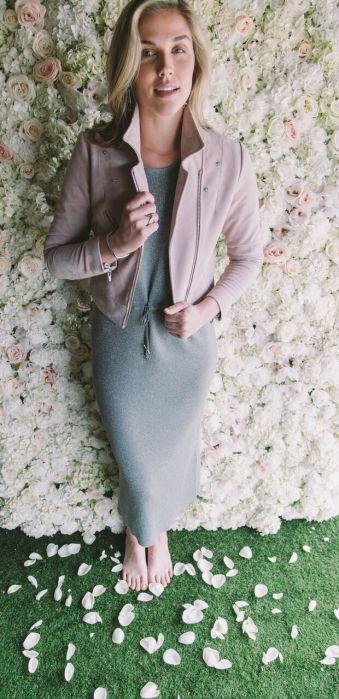 Bitte Kai Rand knit dress. Veda suede jacket.