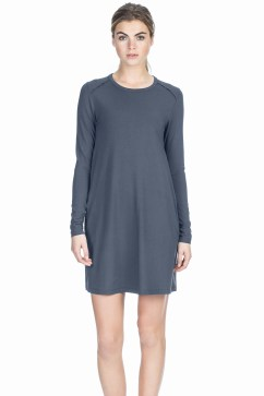 Grey Long Sleeve Popover Dress.