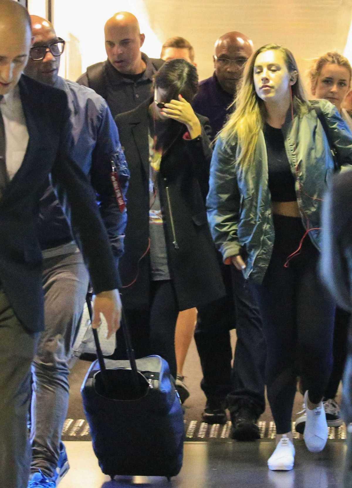 Selena Gomez at the airport in Brisbane, Australia on August 10