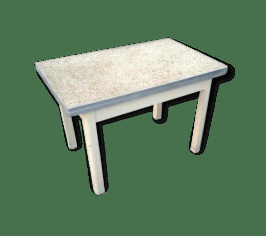 Table de cuisine VINTAGE annes 50  avec rallonges  bois Matriau  beige  vintage  96029
