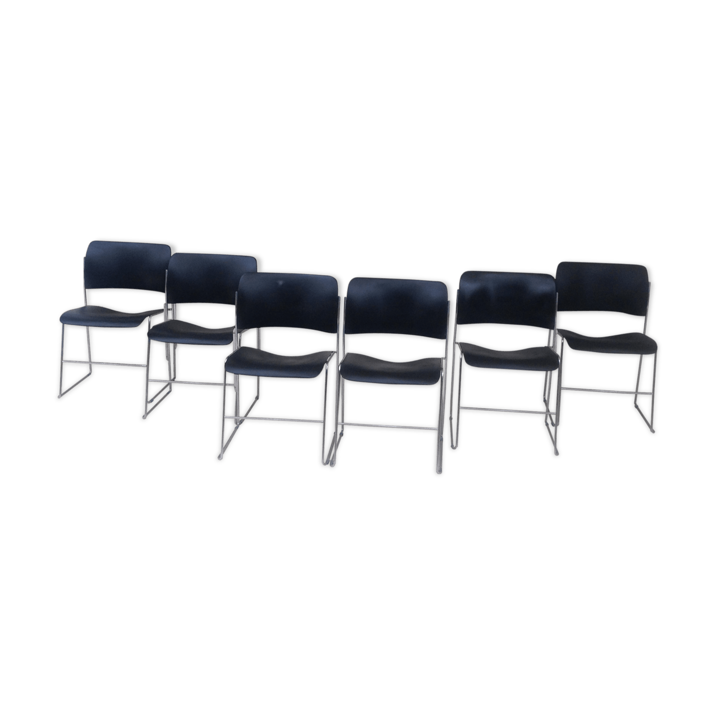 david rowland metal chair hot pink office set of 6 chairs by edition 1969 black