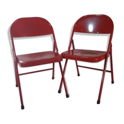 Krueger Folding Chairs Ice Fishing Chair On Sale Pair Of American Original Edition The 1950s