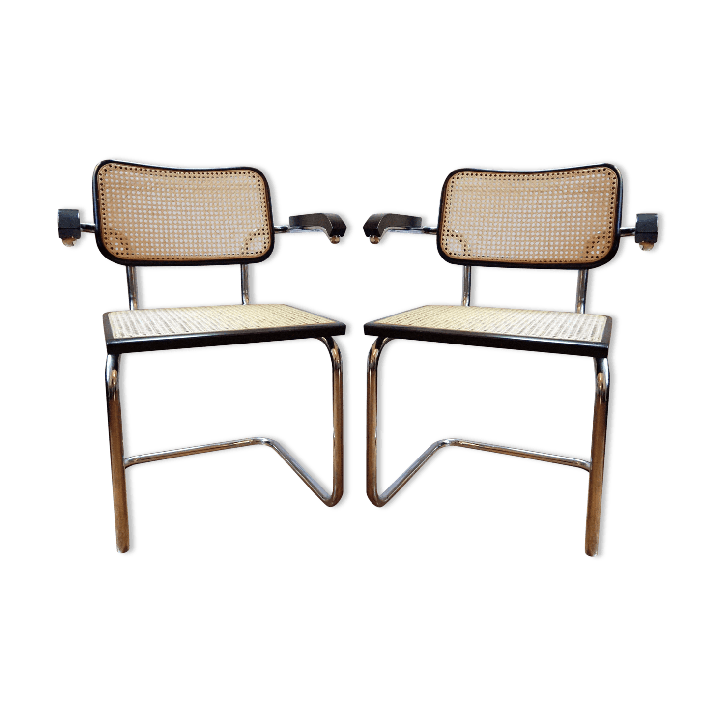 marcel breuer cesca chair with armrests desk and set pair of chairs b64 wood black
