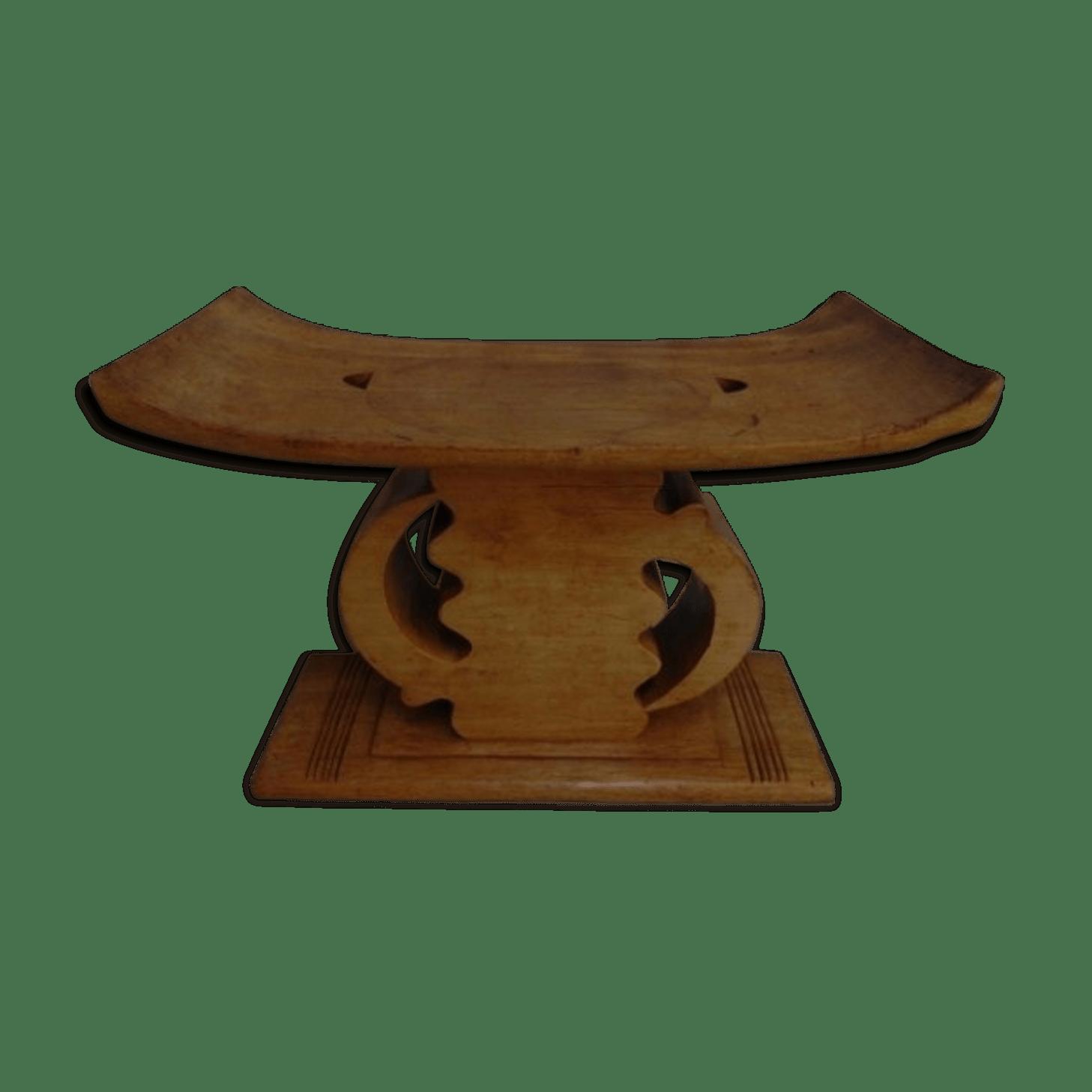 stool chair ghana antique wooden arm gye nyame from ashanti wood ethnic o40ywsb