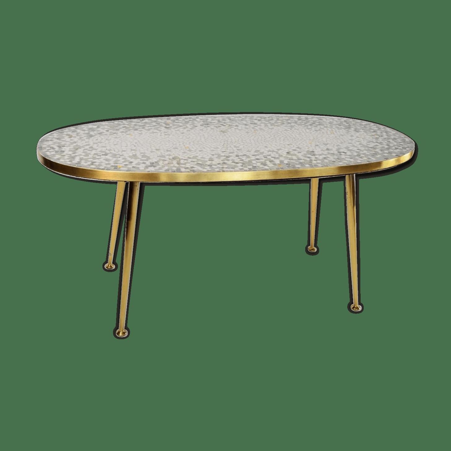 Table De Jardin Mosaique Ovale | Table De Jardin Ovale En Aluminium
