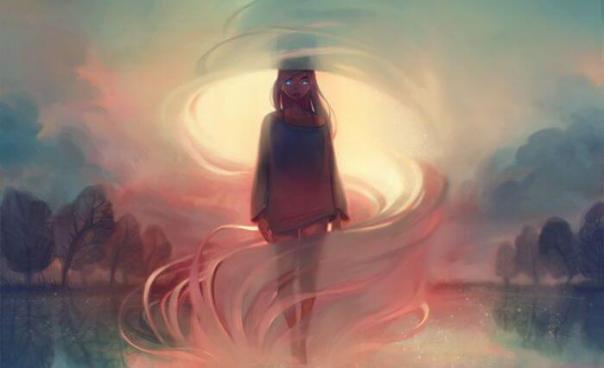 joven-envuelta-en-una-niebla-rosada