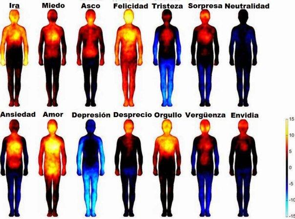 Mapa corporal de las emociones