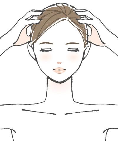 頭皮の引き上げ画像