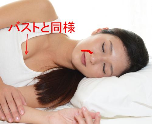 横向き寝はほうれい線をつくる解説画像