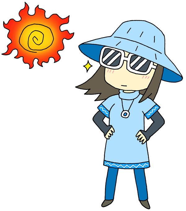 紫外線対策をする女性の画像