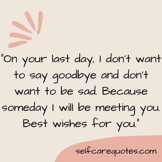 Farewell Quotes for Seniors
