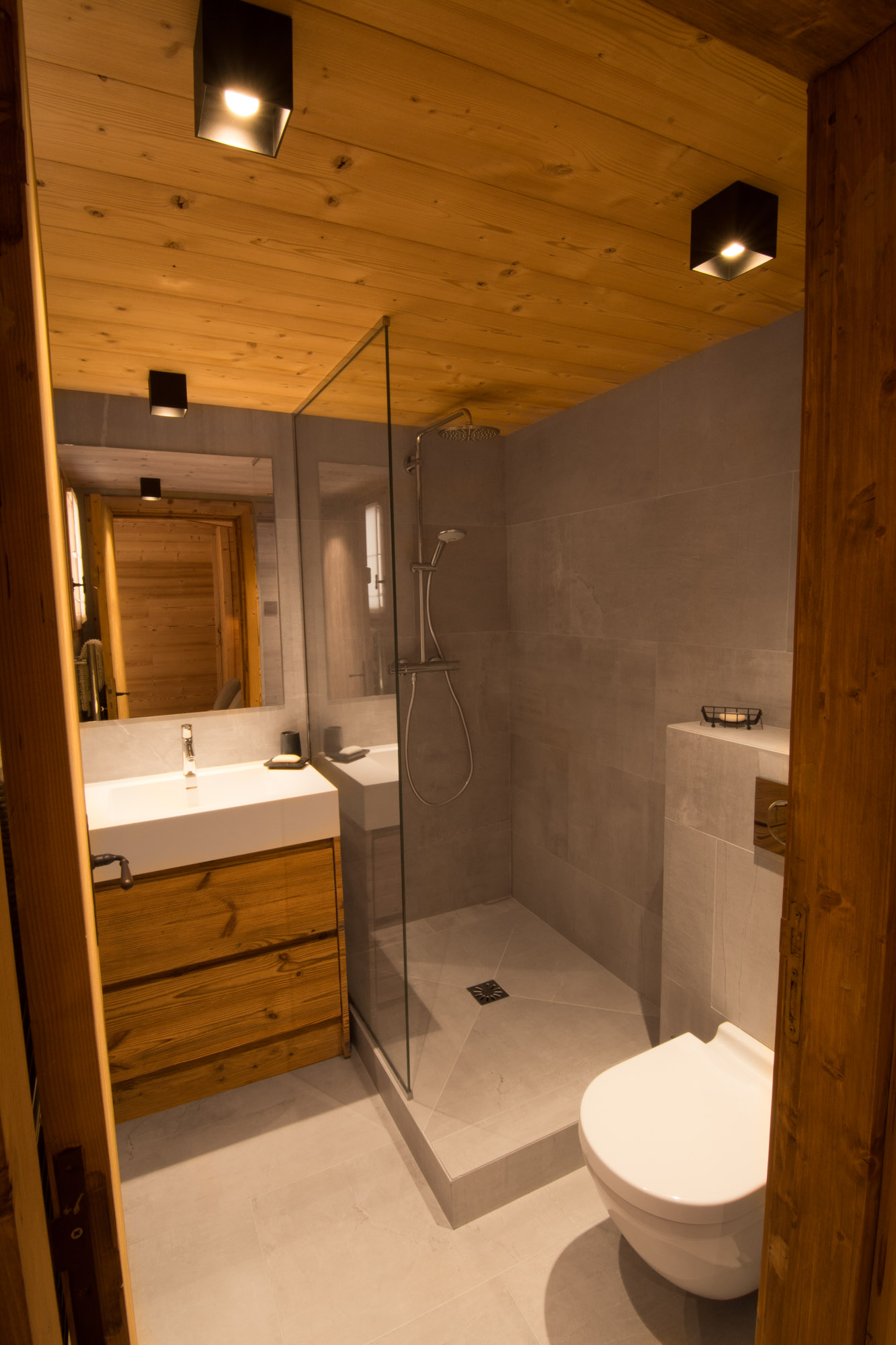 High standard bathrooms in Chalet Riondaz