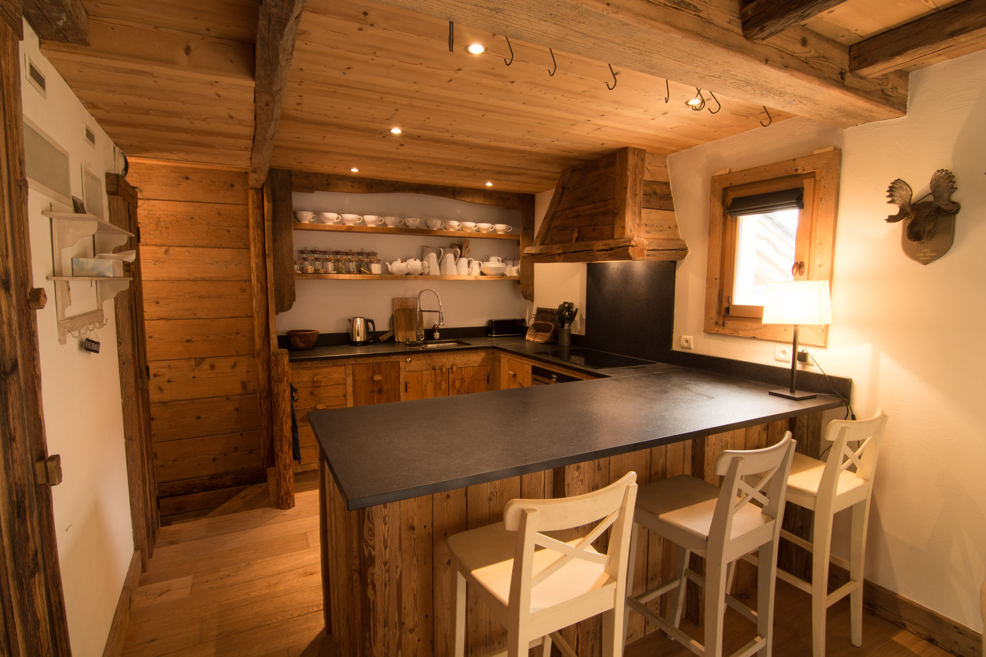 Large Alpine kitchen, well equipped for self-catered holidays