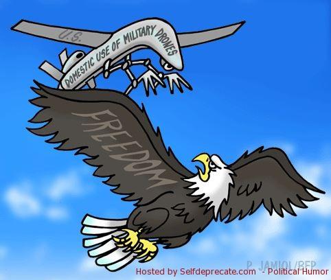 Drones vs Freedom Cartoon