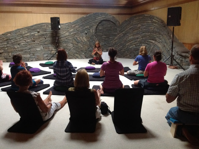 Meditation in sanctuary at Omega