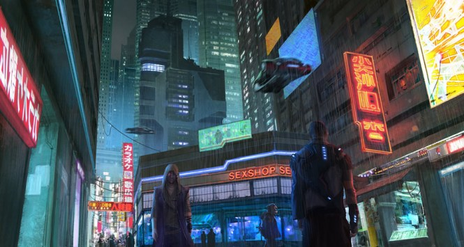 cyberpunk_city_street_by_klauspillon-d83vj59