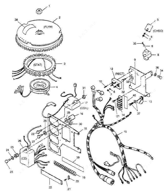 Mercury Force 85 H.P. 1989 L-Drive, Electrical Components