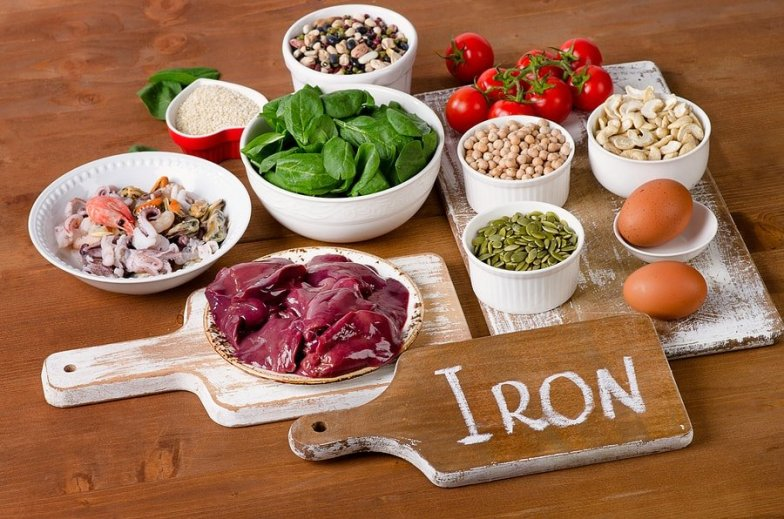 Iron containing foods