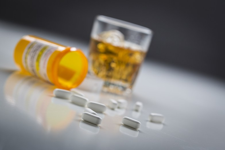 Pills and drink