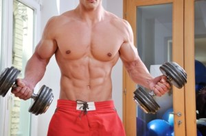 Lifting weights for bigger muscles