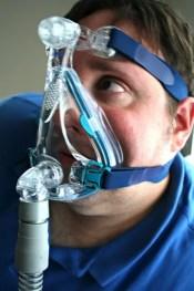man wearing cpap full face mask