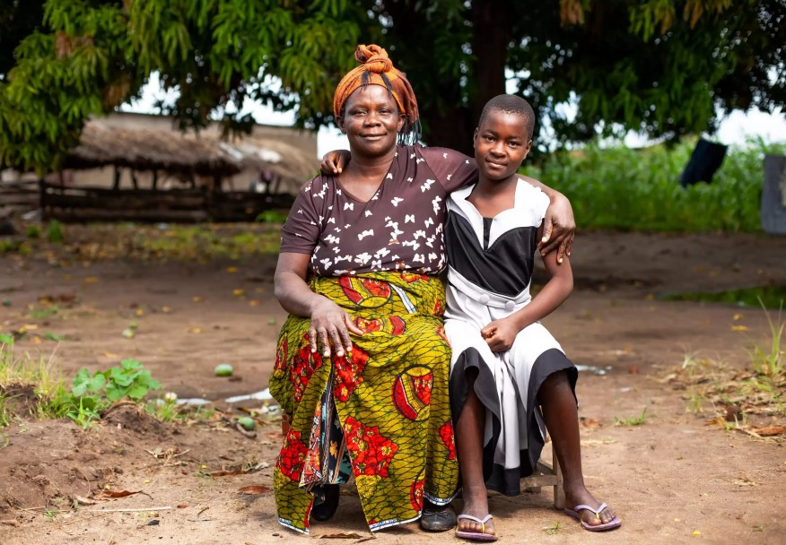 Mary Banda and her daughter Sophia