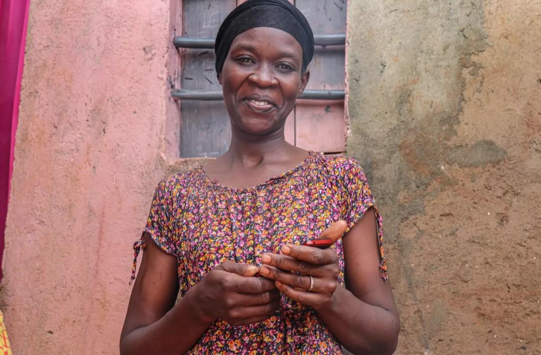 A mother in Kibera, Kenya