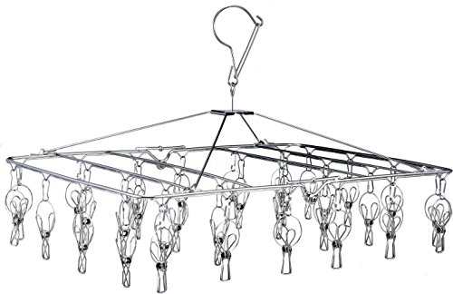 Folding Portable Metal Hanger is Collapsible to Save Space