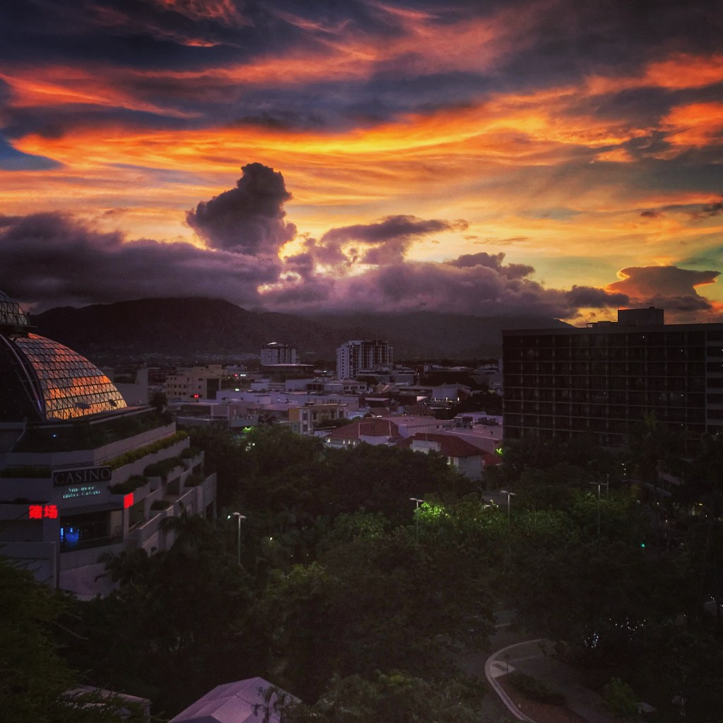 Sunset view of the Casino in Cairns
