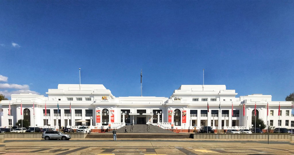 Old Parliament house in Canberra Australia