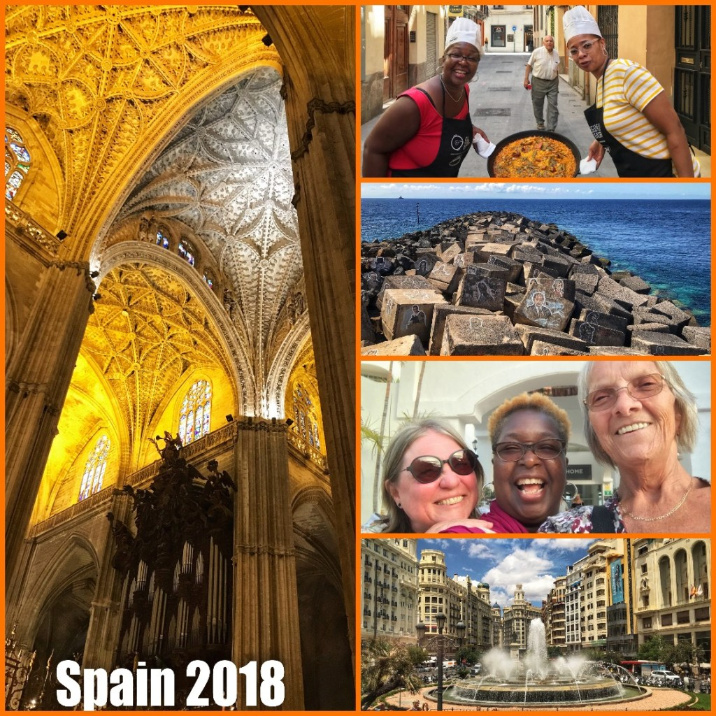 Picture collage of my visit to Spain in 2018