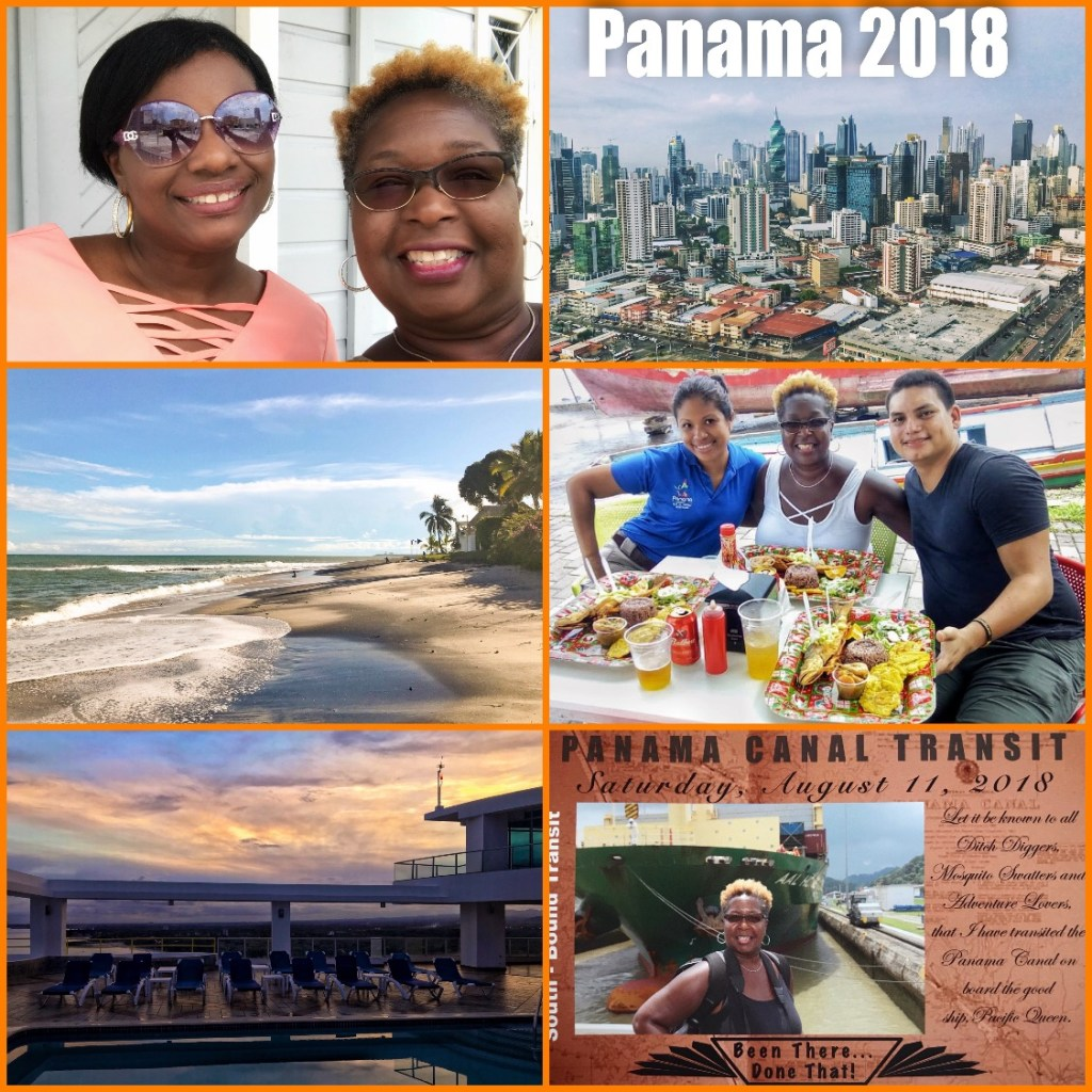 Picture collage of my visit to Panama in 2018