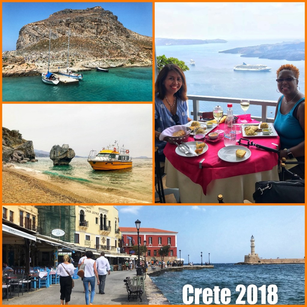 Picture collage of my visit to Crete Greece in 2018