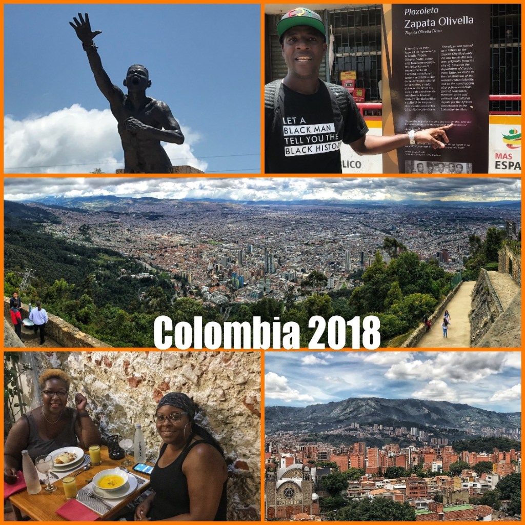 Picture collage of my visit to Colombia in 2018
