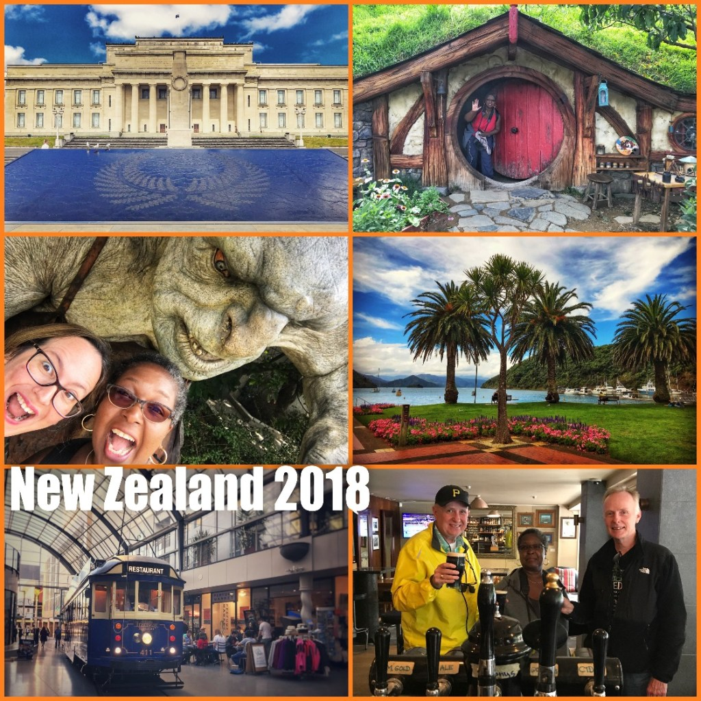 Picture collage of my visit to New Zealand in 2018