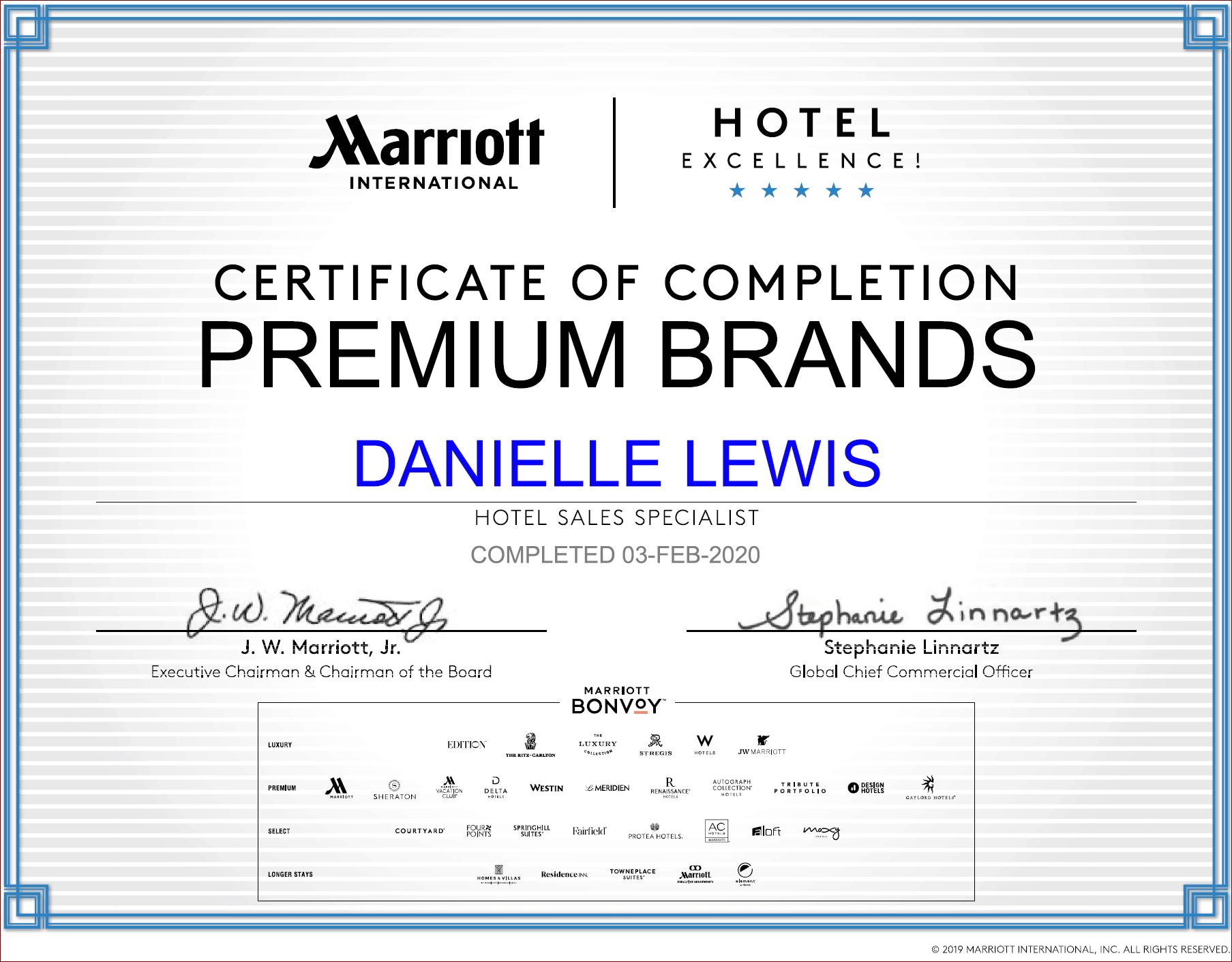 SelfishMe Travel - Marriott International Premium Brands Certificate