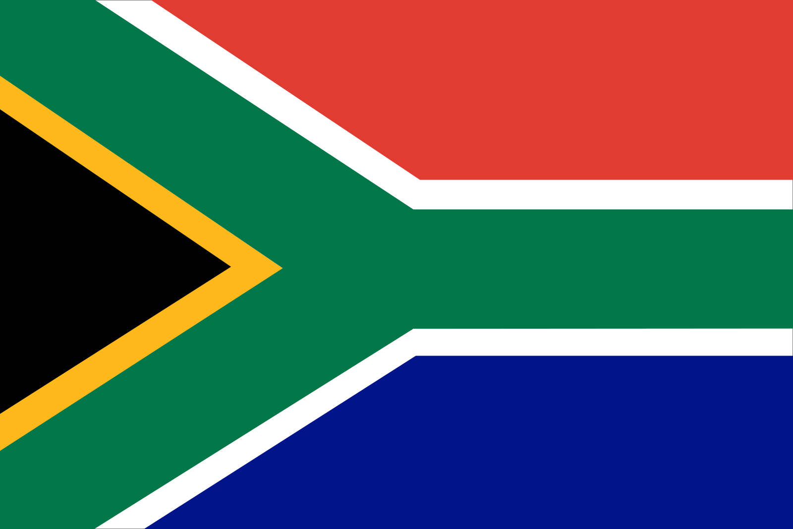 South Africa Flag on SelfishMe Travel
