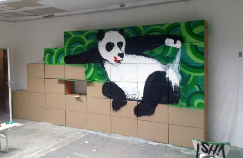 Panda Bear- Work in progress- Graffiti Auftrag-Sumago