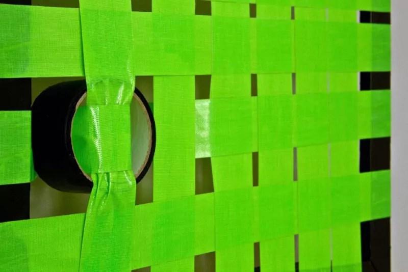 Nahaufnahme- Green-Abstraktes Kunst- Gewebtes Klebeband- Ostap 2013