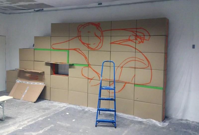 Schritt 02- Konturen Malen-Google Panda-indoor graffiti-Auftrag