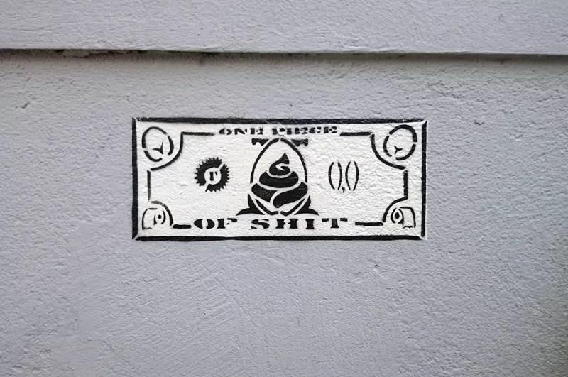 Govnodollar- Schablonen street art-Künstler-Ostap