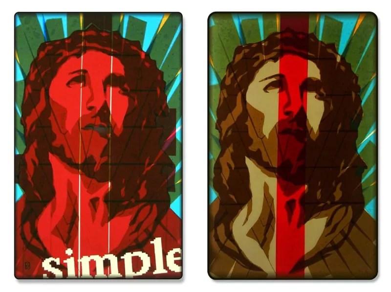 Jesus-Portrait-Pop-Art-Ikone-Packband-diptych-Ostap-2013
