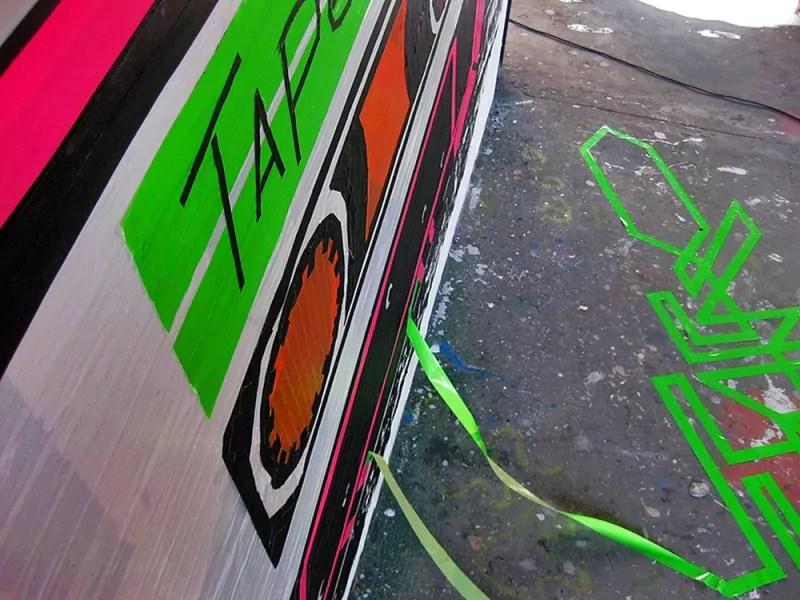 Klebeband-Graffiti-Street Art Festival-Teufelsberg-2012-Nahaufnahme