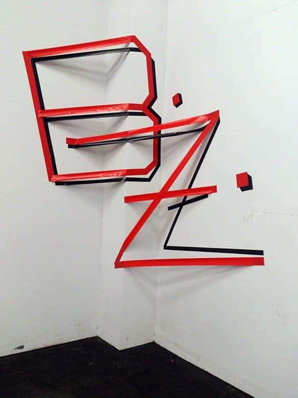 3D graffiti for Berliner Zeitung Interview