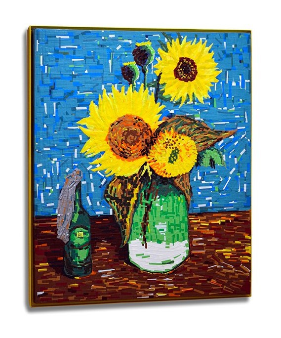 Post image 3- Sunflowers- Ostap feat Van Gogh- tape art