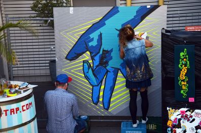 """image 03- """"Selfmade crew"""" in action at """"Yard 5"""" Street Art Jam 2016"""