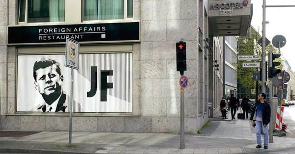 jfk portrait in Berlin-tape art by Ostap